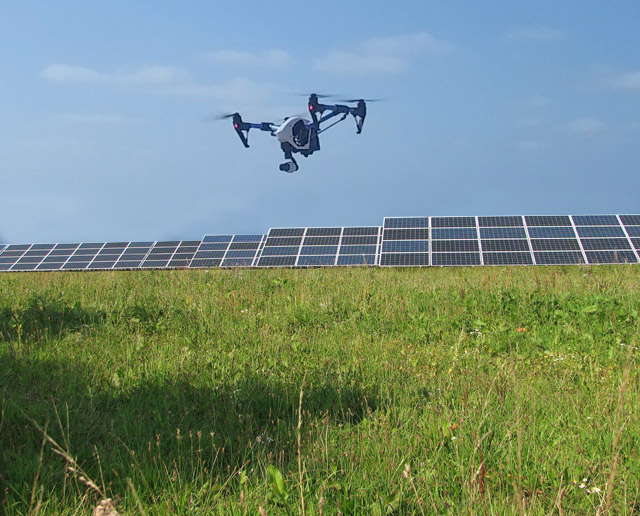 Solar Industry Sees Aerial Drone Photography As Labor Saving
